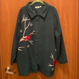 Quacker Factory Christmas Cardinal sweater.
